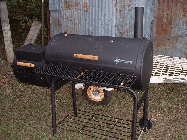 nb smoker conversion to use propane and charcoal texags